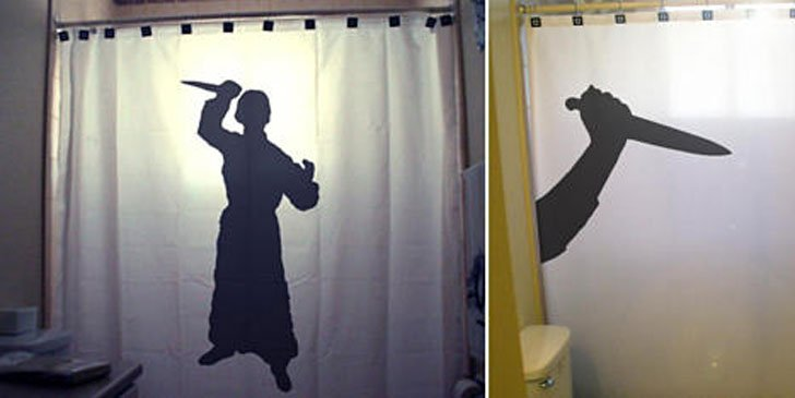 Crazy Psycho Shower Curtain