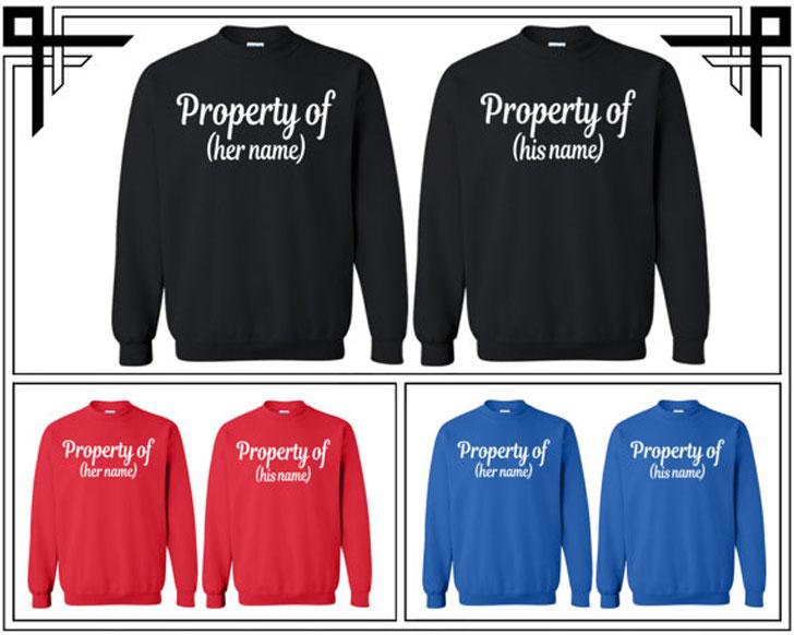 Custom Made Couples Sweatshirts