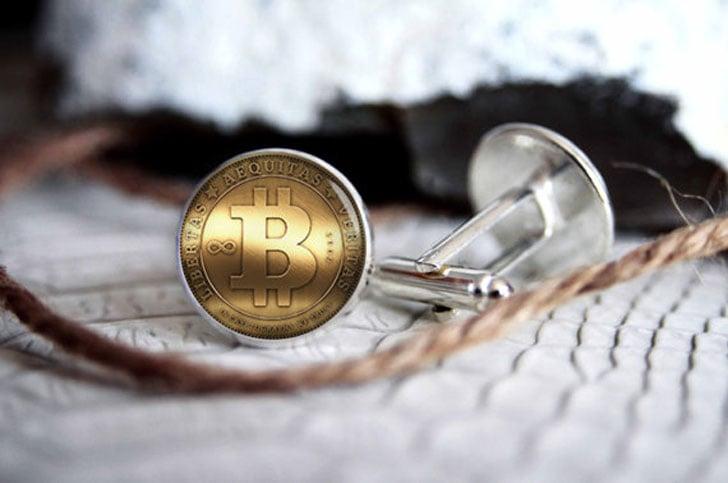 Custom Personalized Bitcoin Cufflinks