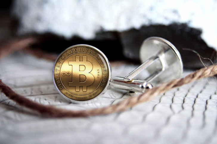 Custom Personalized Bitcoin Cufflinks