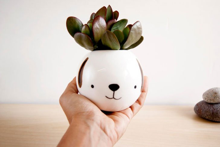 Cute Dog Animal Planter Pot