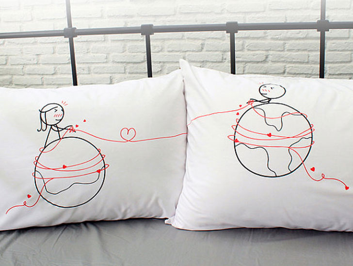 Cute Long Distance Relationship Pillow Covers