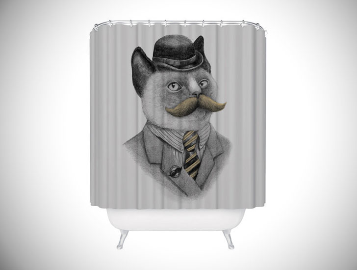 Dapper Kitty Shower Curtain