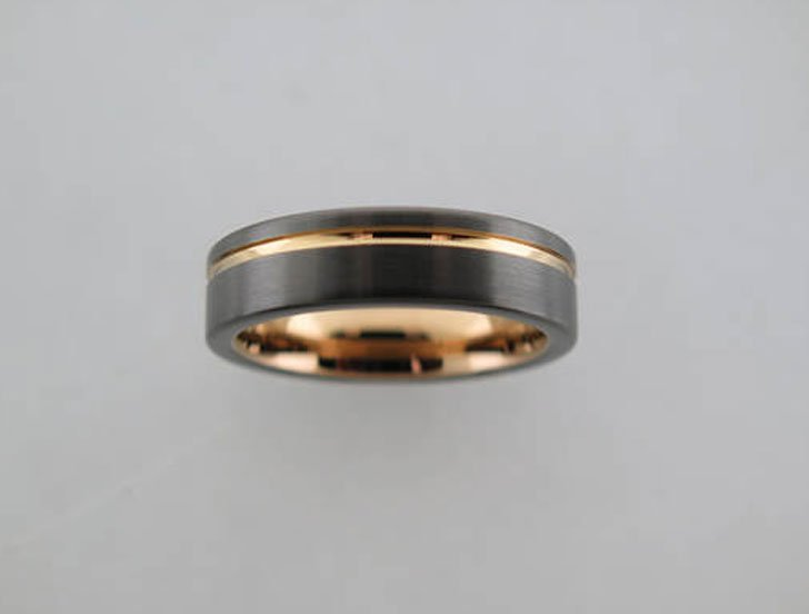 Dark Grey Brushed Tungsten Carbide Rings