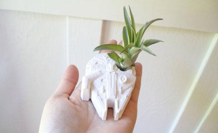 Death Star Inspired Planter Gift Set