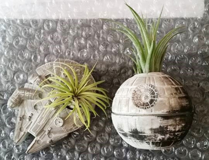 Death Star Inspired Planter Gift Set