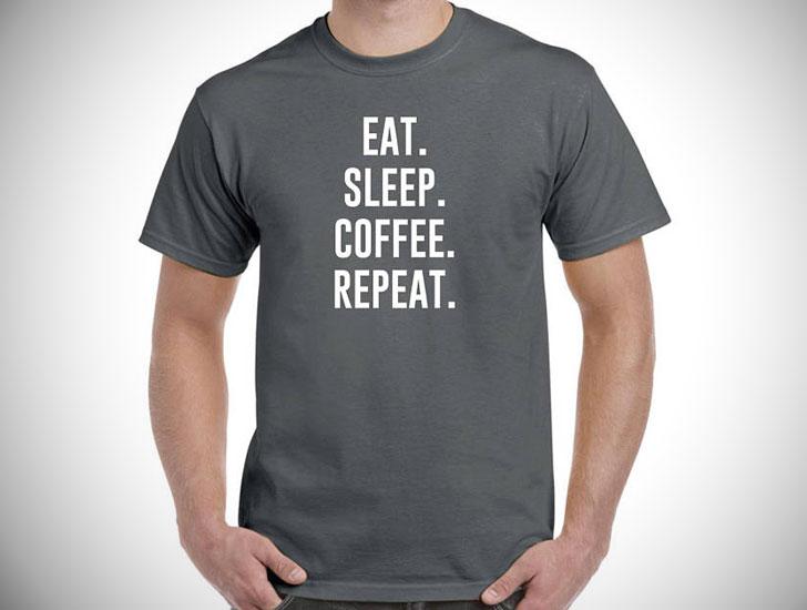 Eat Sleep Coffee Repeat Shirt