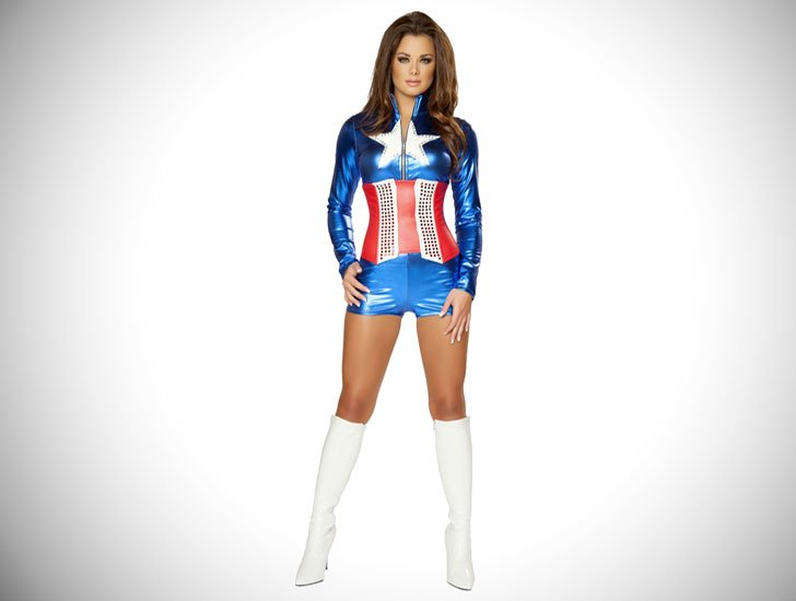 Female Captain America Cosplay Costume - Cosplay Ideas For Girls