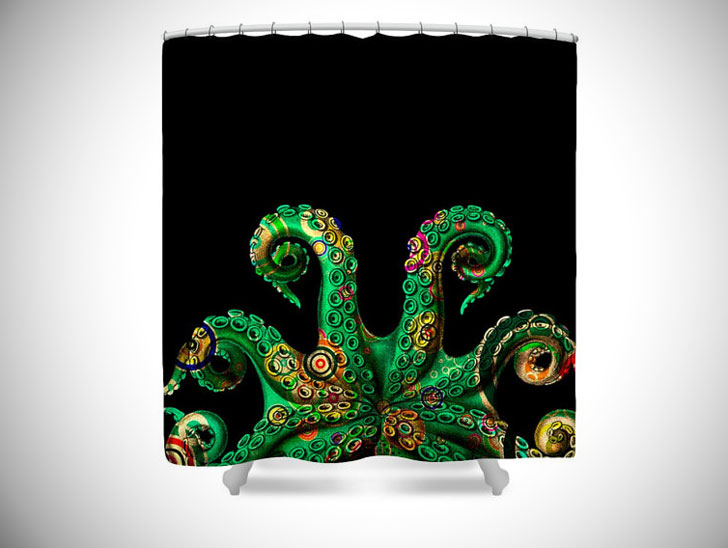 Funky Octopus Tentacle Shower Curtain
