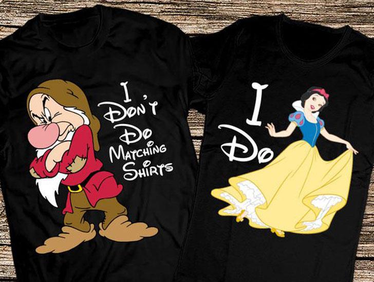 Funny Disney Grumpy and Snow White Matching Shirts