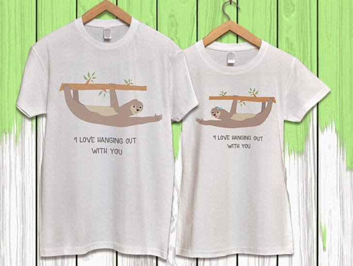 Funny His and Her Sloth Shirts