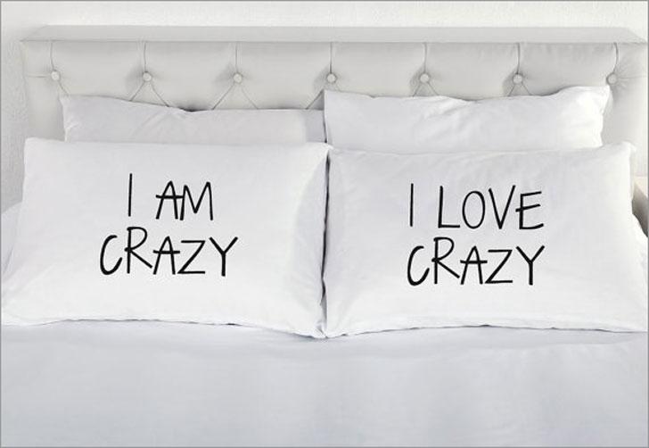 Funny I Am Crazy Pillowcase Set