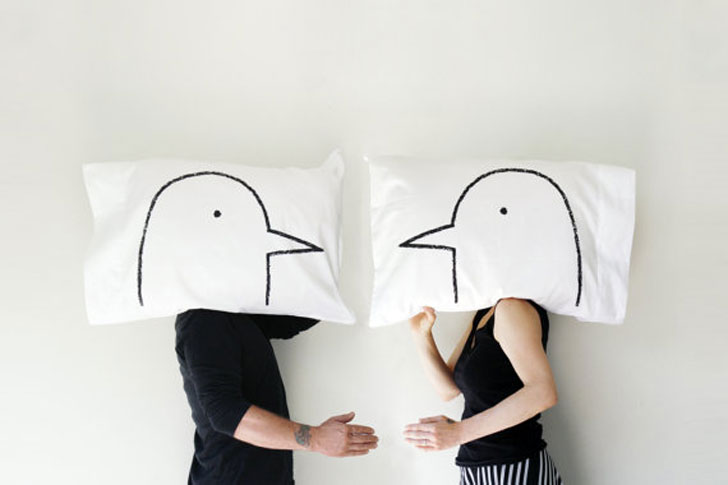 Funny Lovebirds Pillow Case Set - couples pillowcases