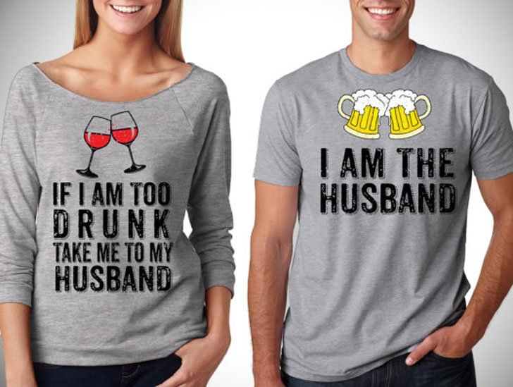 Funny Party Drinking Couples T-Shirts