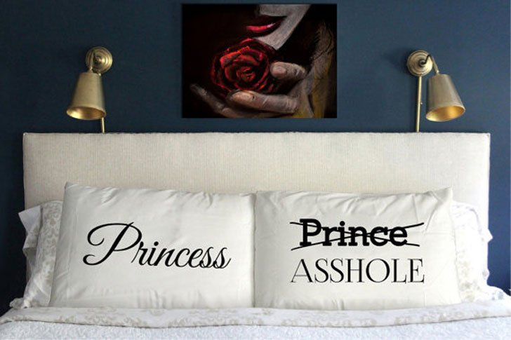 Funny Prince and Princess Pillow Cases