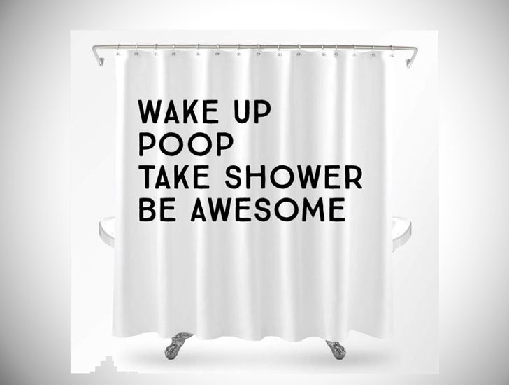 Funny Wake Up Be Awesome Shower Curtain