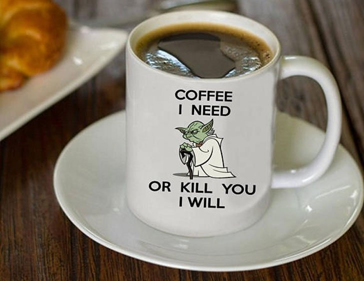 Funny Yoda Coffee I Need Coffee Mug - gifts for coffee lovers