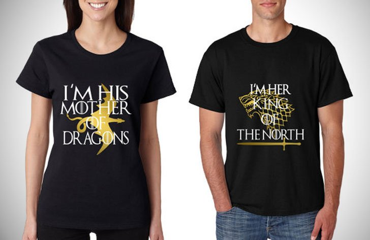 GOT I'm His Mother of Dragon I'm Her King Of The North Shirts