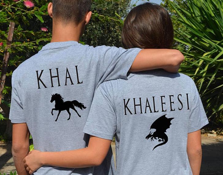 Game of Thrones Khal & Khaleesi Couples Matching T-Shirts
