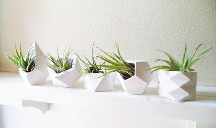 Geometric Mini Desk Planters - unique planters
