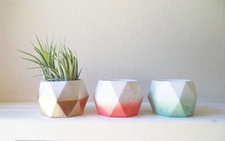 Geometric Mini Planters - unique planters