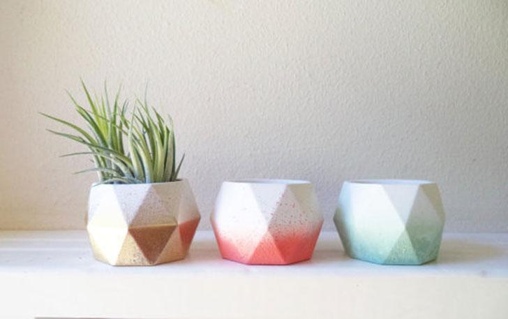 Geometric Mini Planters - unique planters