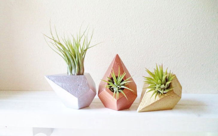 Geometric Teardrop Planters - unique planters