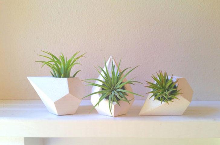 Geometric Teardrop Planters