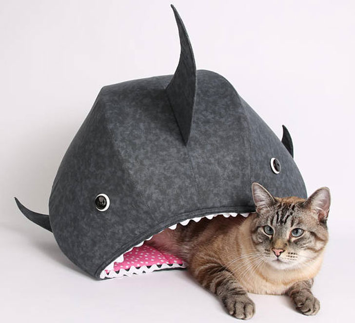 Great White Shark Cat Bed