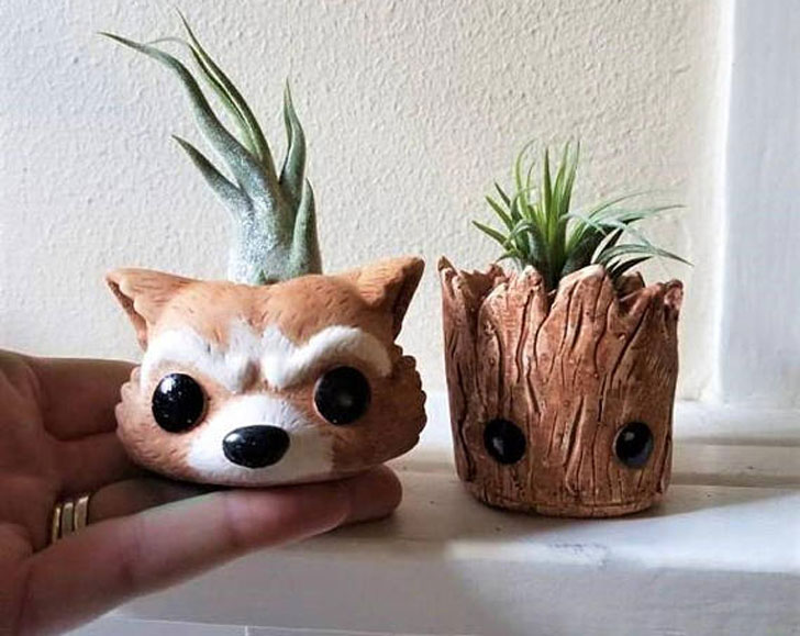 Groot & Rocket Inspired Planters - unique planters