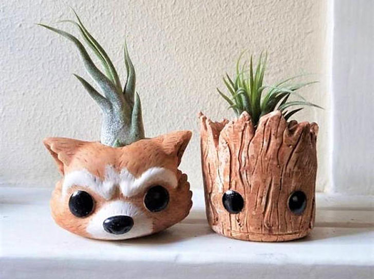 Groot & Rocket Inspired Planters