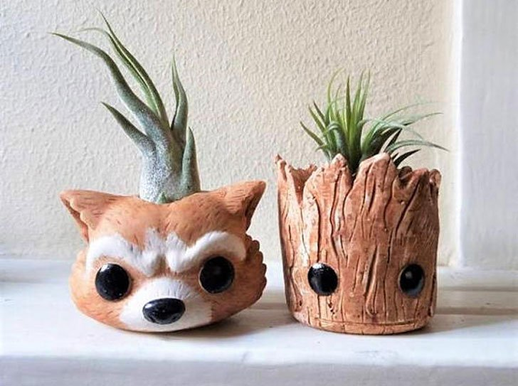 Groot & Rocket Inspired Planters
