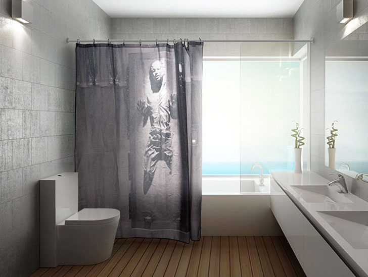 Han Solo in Carbonite Shower Curtain