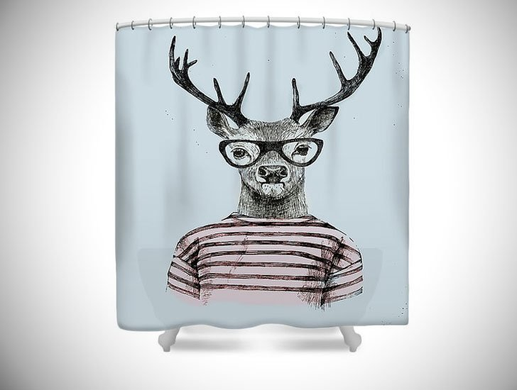 Hipster Deer Shower Curtain