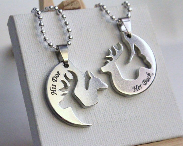 His and Hers Hunting Necklaces