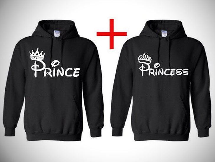 His and Hers Prince and Princess Hoodies