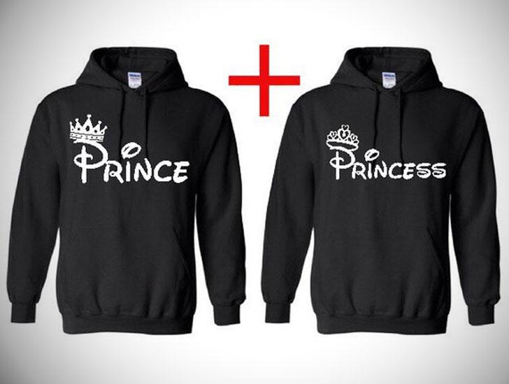 His and Hers Prince and Princess Hoodies