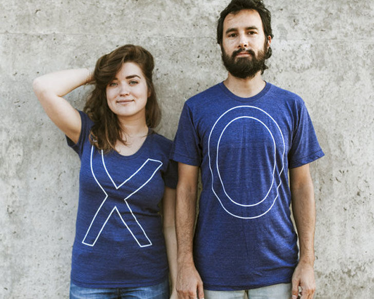 His and Hers X & 0 Couples Shirts