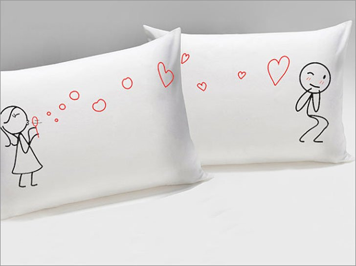 His and Hers from My Heart to Yours Too Pillows