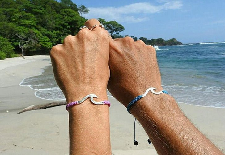 His and hers beach ocean surf bracelets