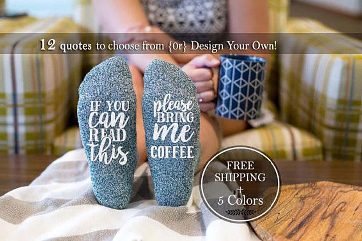 Humorous Coffee Socks
