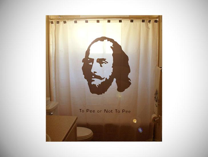 Humorous Shakespeare Shower Curtain