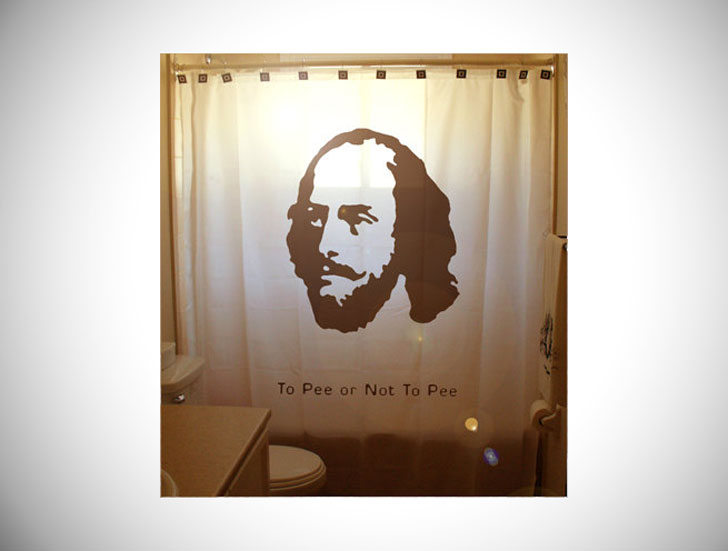 Humorous Shakespeare Shower Curtain