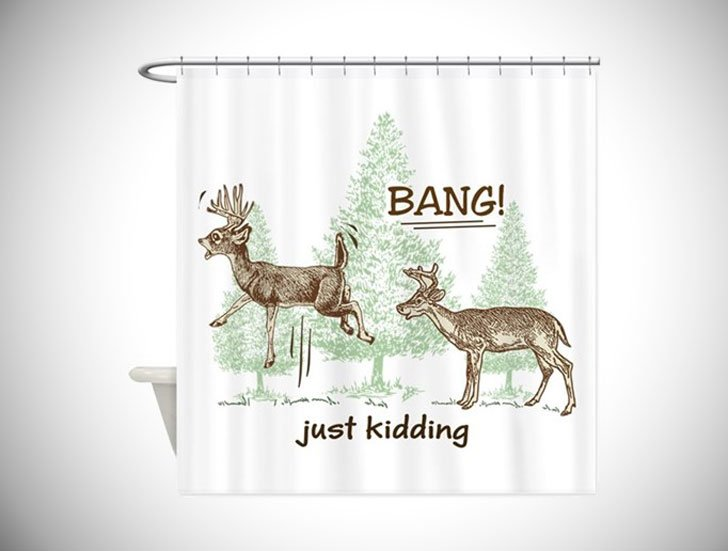 Hunting Humour Shower Curtain