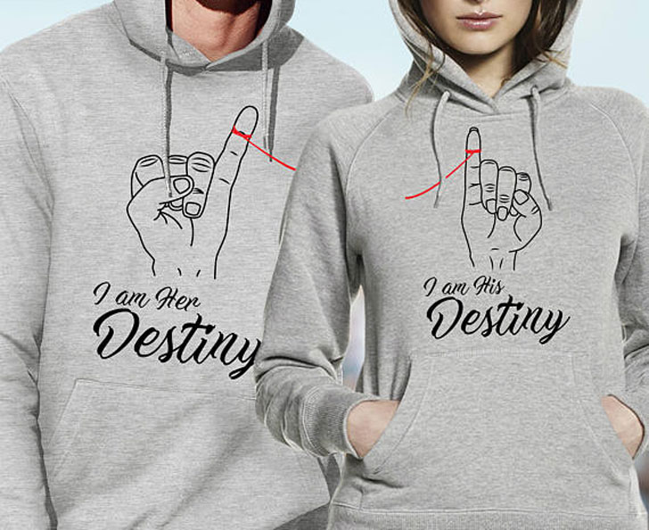 I Am His And Her Destiny Hoodies