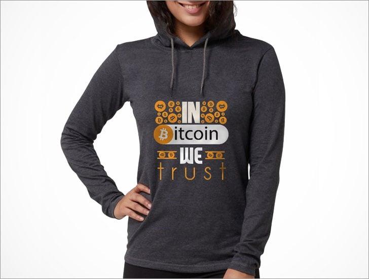 In Bitcoin We Trust Women's Hooded Shirt