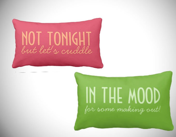 In The Mood - Not Tonight Couple Pillows