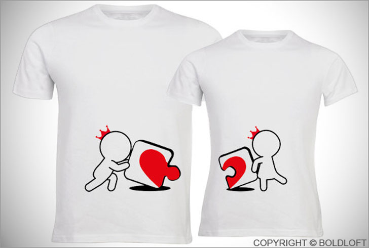 Incomplete Without You His and Hers Couple Shirts