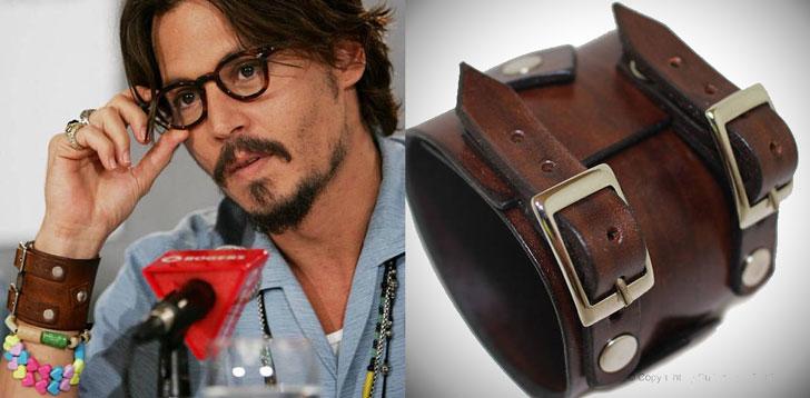 Johnny Depp Style Leather Cuff Bracelet