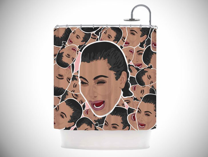 """Juan Paolo """"First World Problems"""" Celebrity Funny Shower Curtain"""